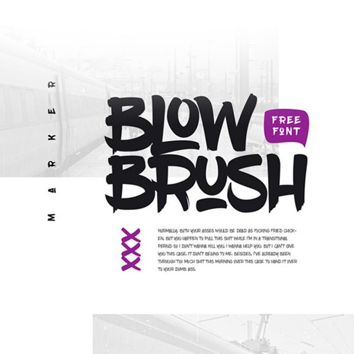 دانلود فونت انگلیسی Blow Brush