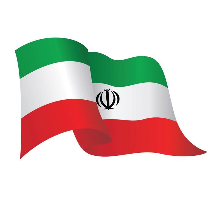 دانلود وکتور لایه باز و عکس با کیفیت پرچم ایران
