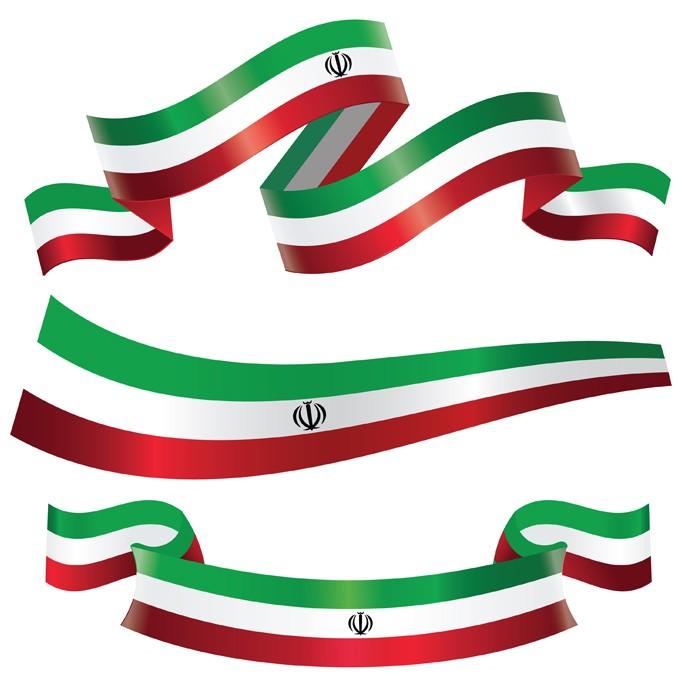 دانلود وکتور لایه باز سه طرح مختلف پرچم ایران