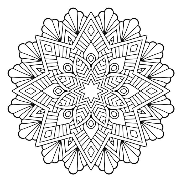 دانلود وکتور ماندالای ستاره و گل - شماره 703