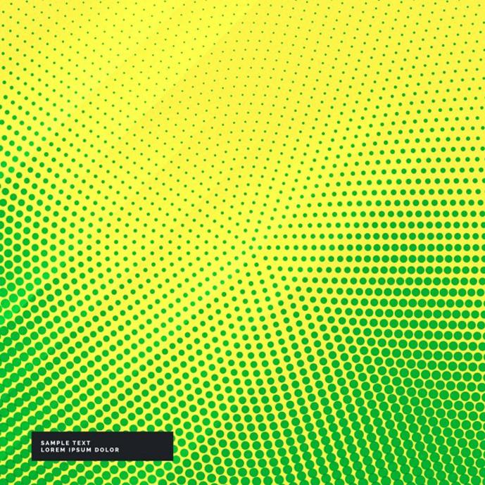 دانلود وکتور پس زمینه دایره های کوچک سبز در زمینه زرد