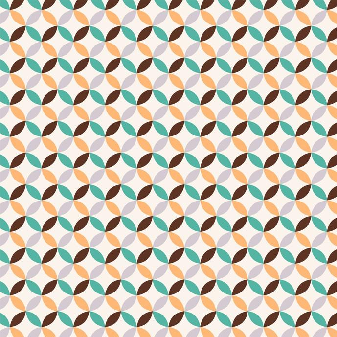 وکتور پترن دایره ای چهار رنگ - شماره 718