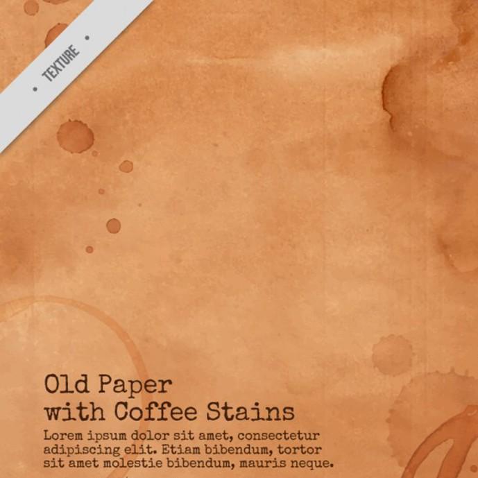 دانلود وکتور تکسچر کاغذ قدیمی با لکه های قهوه - شماره 655
