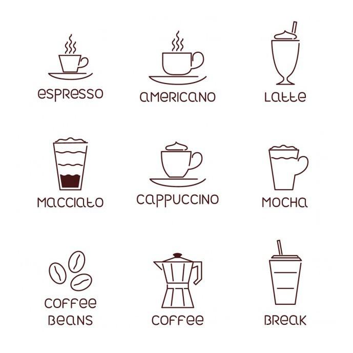 دانلود 9 آیکون مرتبط با قهوه