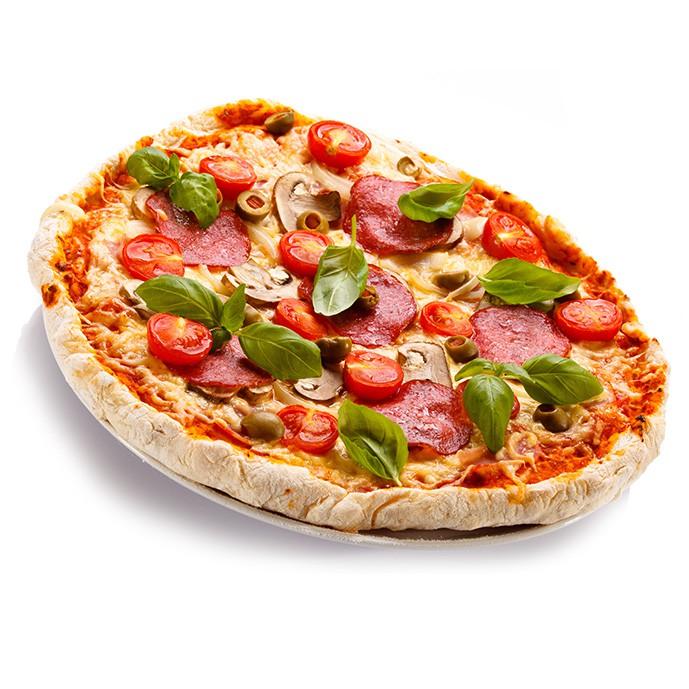 دانلود تصویر با کیفیت پیتزا در زمینه سفید