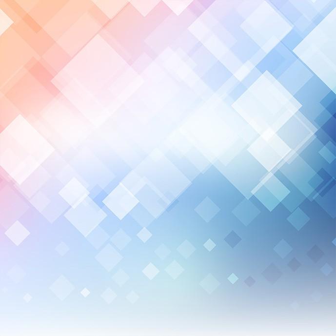 دانلود وکتور پس زمینه آبی و نارنجی با مربع های شفاف شیشه ای