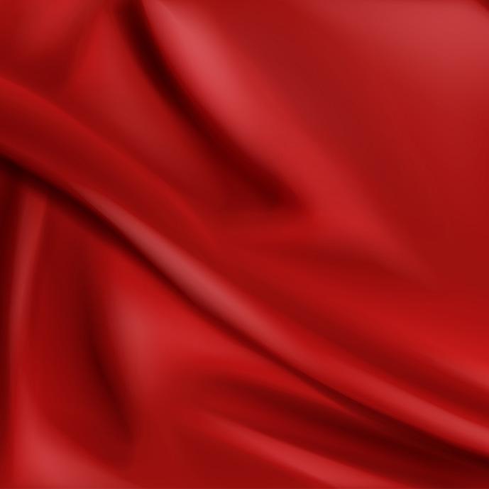 وکتور پارچهی ابریشم به رنگ قرمز