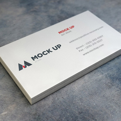 realistic-business-card-gray