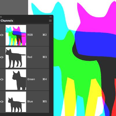 آشنایی با کانال ها و رنگ ها در فتوشاپ
