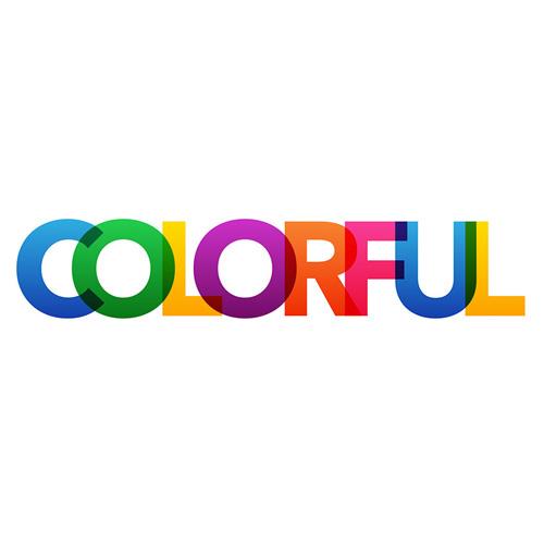 ایجاد حروف رنگی شفاف