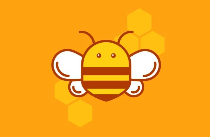 طراحی لوگوی زنبور عسل در ایلوستریتور