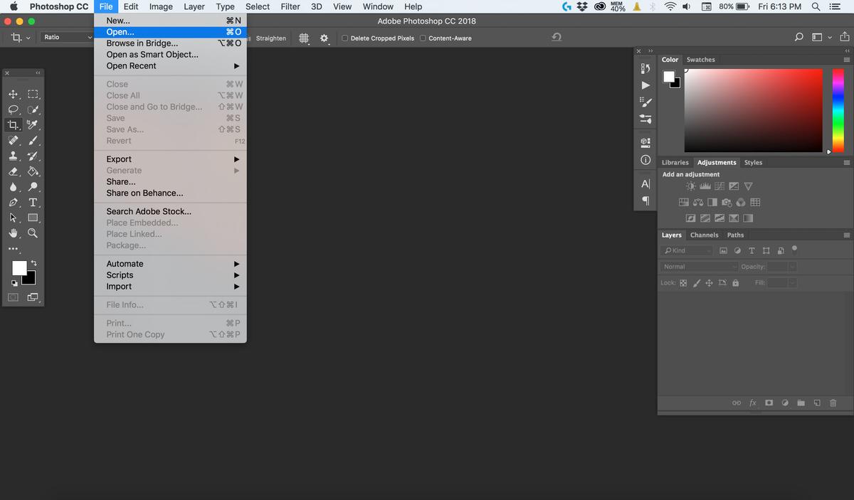 مرحله اول ایجاد فیلتر دراماتیک روی تصویر با فتوشاپ