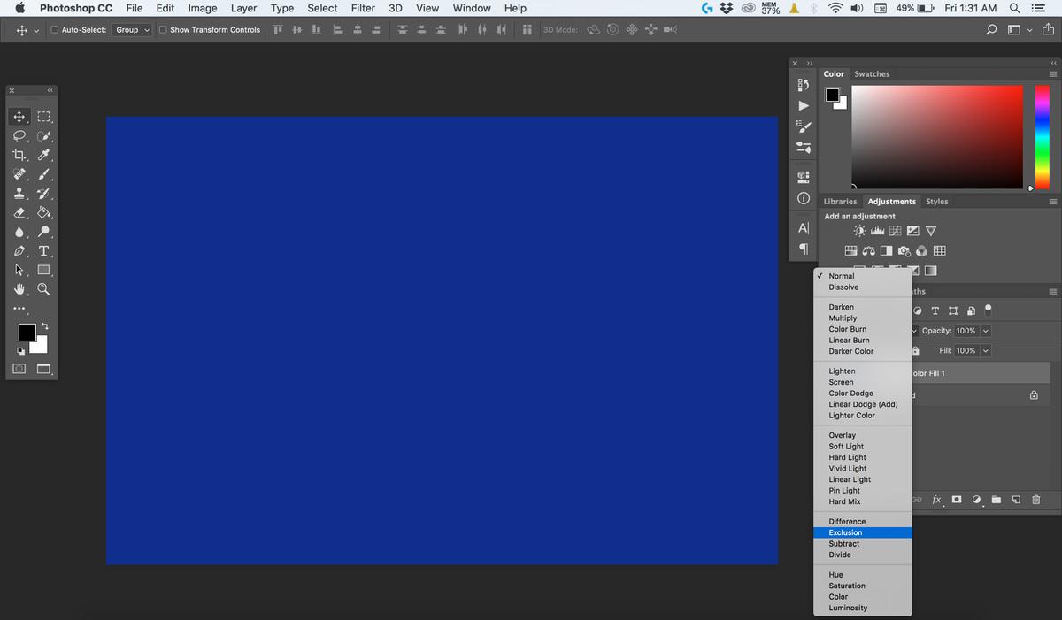 تغییر حالت Blend تصویر در فتوشاپ