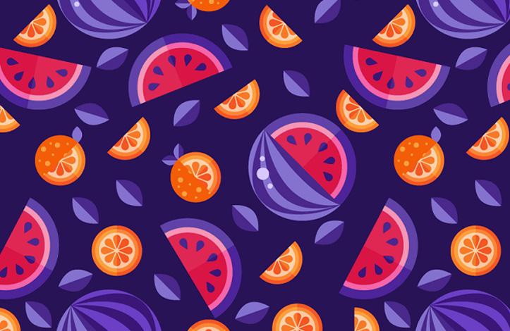 طراحی پترن میوه ها در ایلوستریتور
