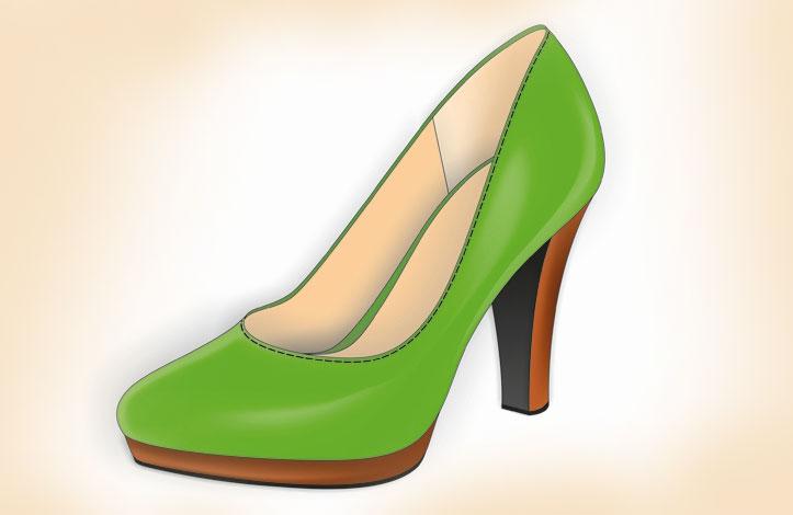 طراحی کفش پاشنه بلند با کورل دراو (قسمت دوم)