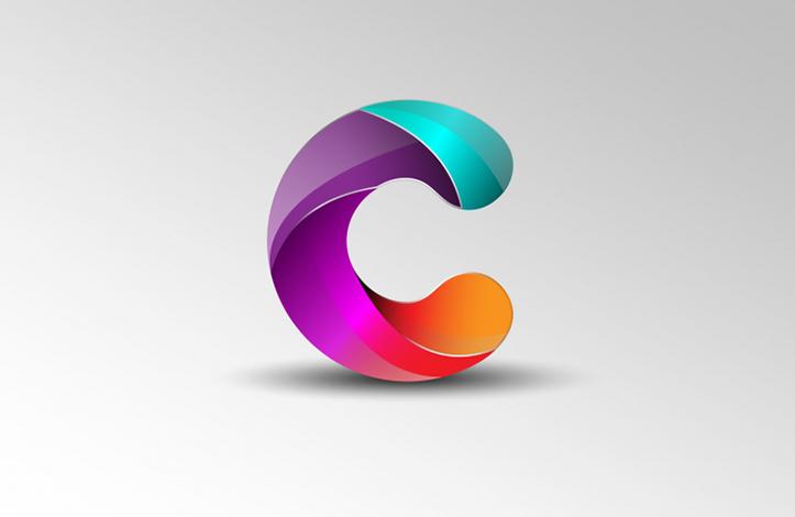 طراحی لوگوی حرف C