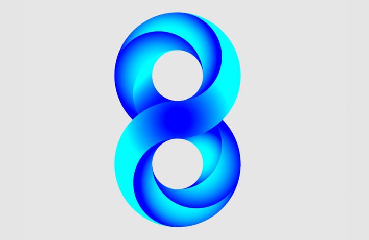 طراحی وکتور عدد 8
