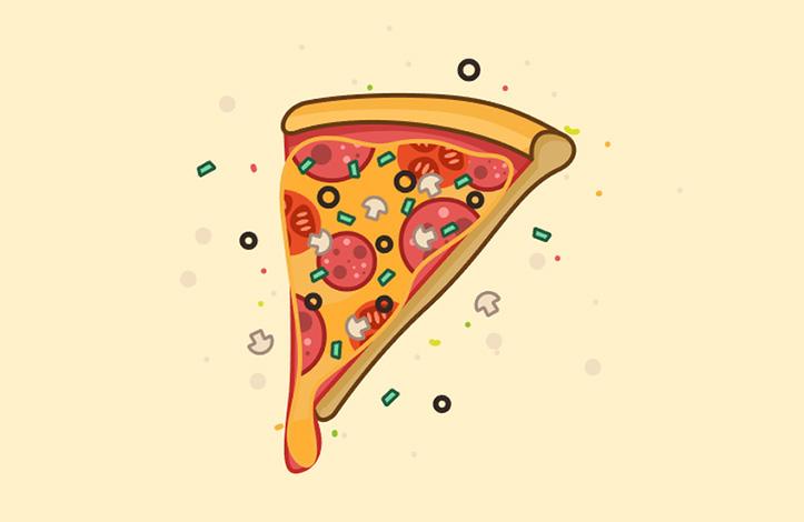 طراحی وکتور پیتزا