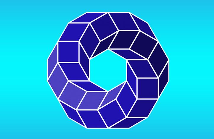 طراحی وکتور مکعب های چرخشی