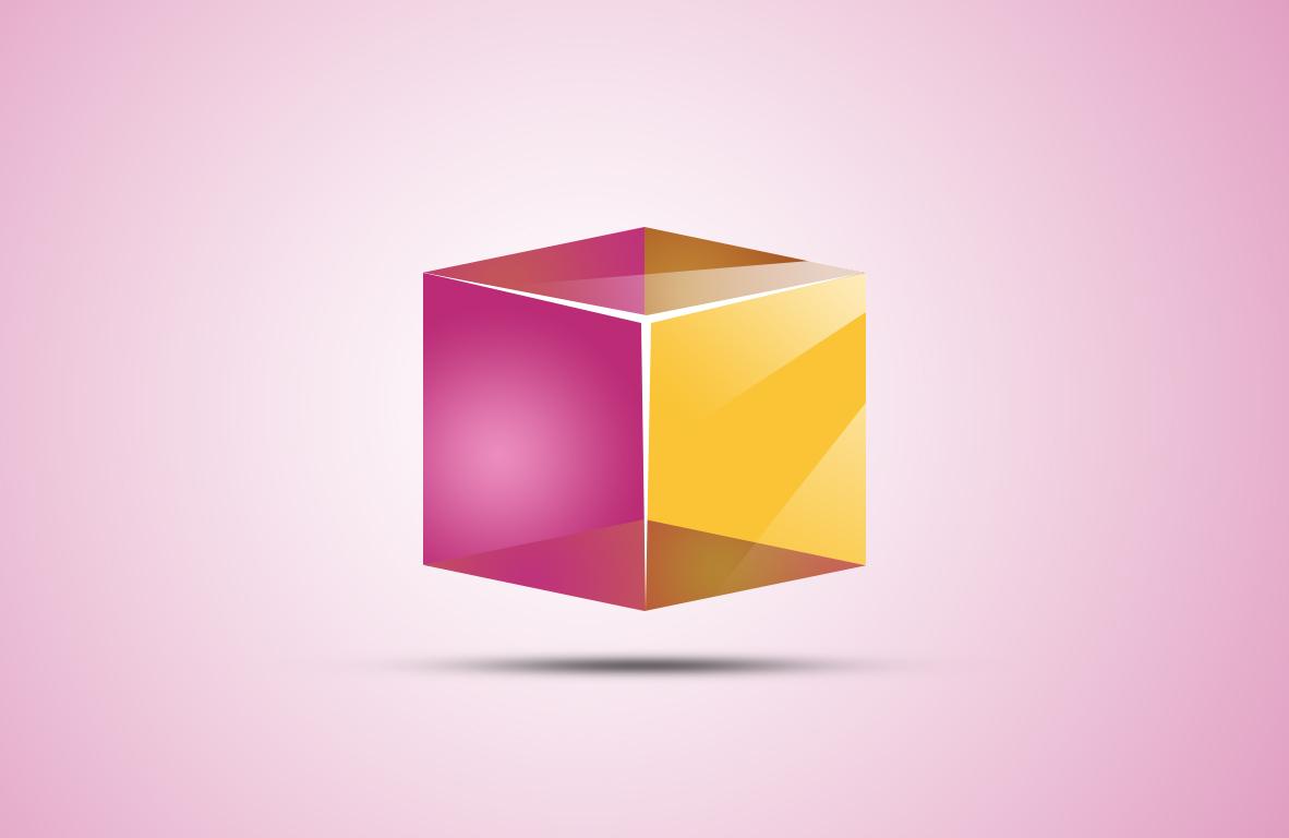 طراحی مکعب سه بعدی در فتوشاپ