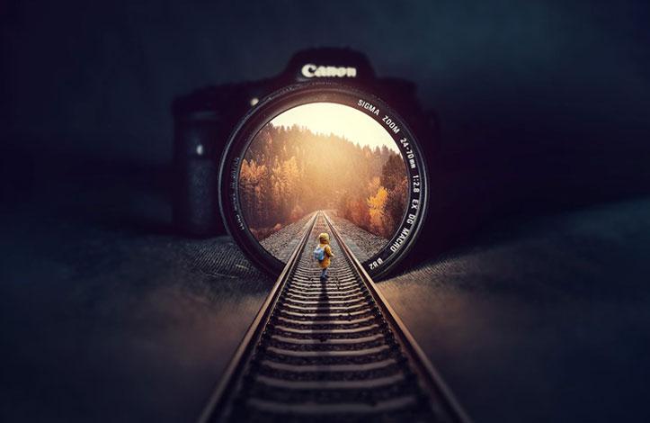 طراحی photo manipulation: ورود به دوربین عکاسی!