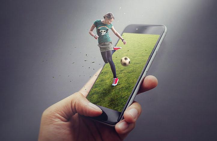 طراحی تصویر فوتبالیست به سبک pop up