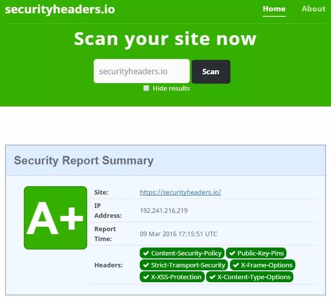 یک نمونه وب سایت با امتیاز بسیار خوب +A