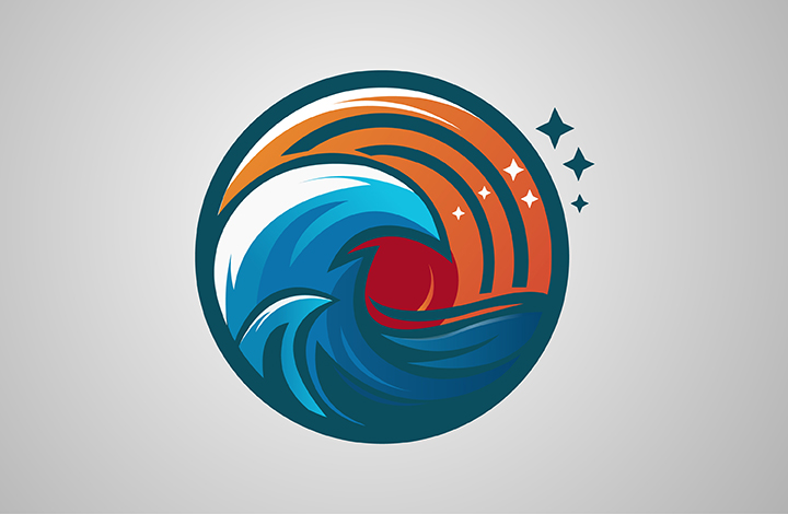 آموزش طراحی لوگو رویای اقیانوس
