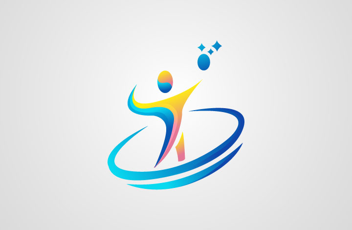 آموزش طراحی لوگو ورزشی (والیبال)