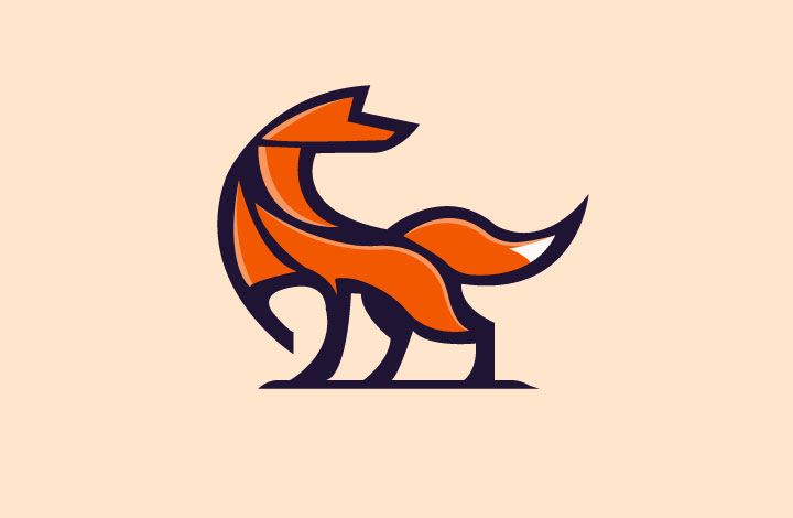 آموزش طراحی لوگو روباه دو بعدی