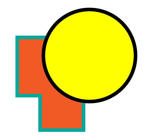 قرار دادن یک دایره روی شکل جدید