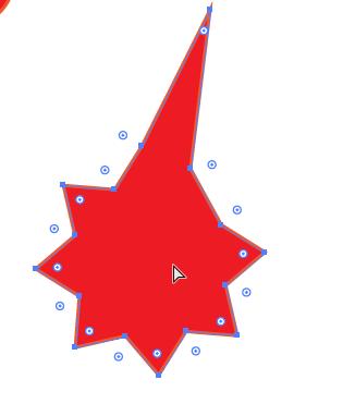 تغییر شکل ظاهری ستاره با direct selection tool