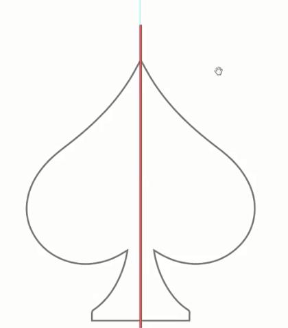 اضافه کردن خط به وسط طرح