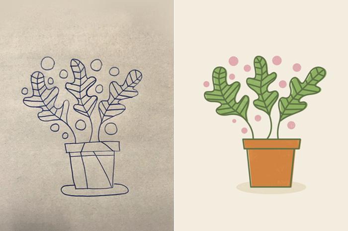 تبدیل نقاشی روی کاغذ به طرح دیجیتال در ایلوستریتور