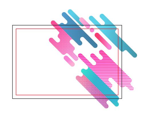 قرار گرفتن طرح رنگی روی کارت ویزیت