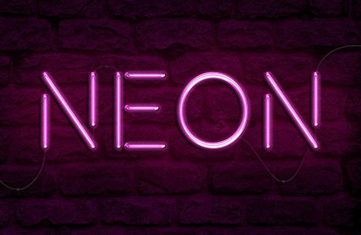 ایجاد افکت نور نئونی روی متن در فتوشاپ