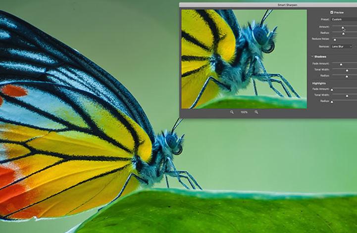 رسیدن به بهترین وضوح تصویر با فیلتر Smart Sharpen در فتوشاپ