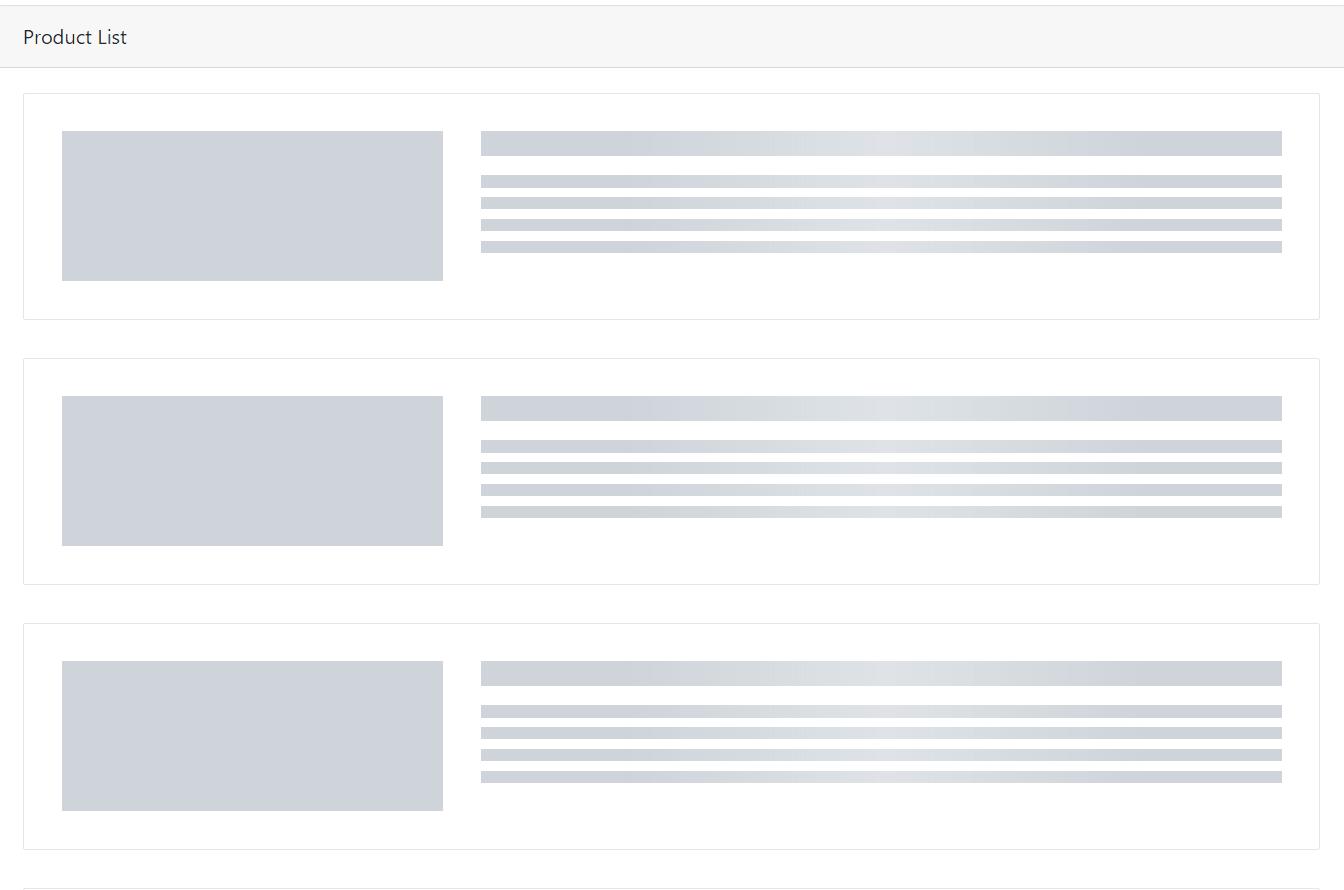 نمایش افکت Skeleton با Ajax و PHP